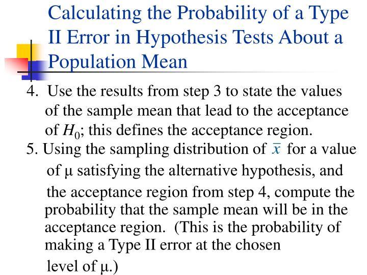 5. Using the sampling distribution of