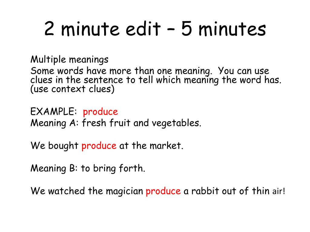 5 minute presentation how many words