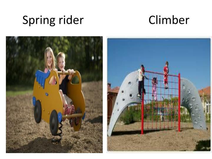 Spring rider climber