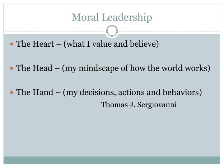 critique of sergiovanni s moral leadership getting to the heart of school improvement Moral leadership: getting to the heart of school improvement by thomas j sergiovanni 404 avg rating — 52 ratings — published 1992 — 2 editions.
