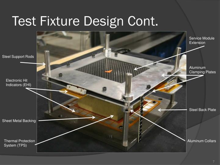 Test Fixture Design Cont.