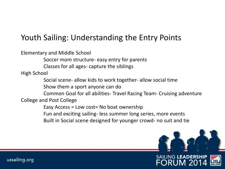 Youth Sailing: Understanding the Entry