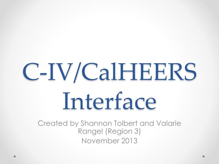 c iv calheers interface n.