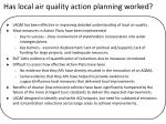 has local air quality action planning worked