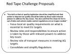 red tape challenge proposals