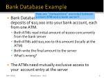 bank database example