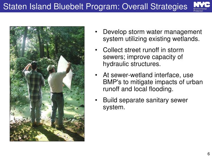 Staten Island Bluebelt Program: Overall Strategies