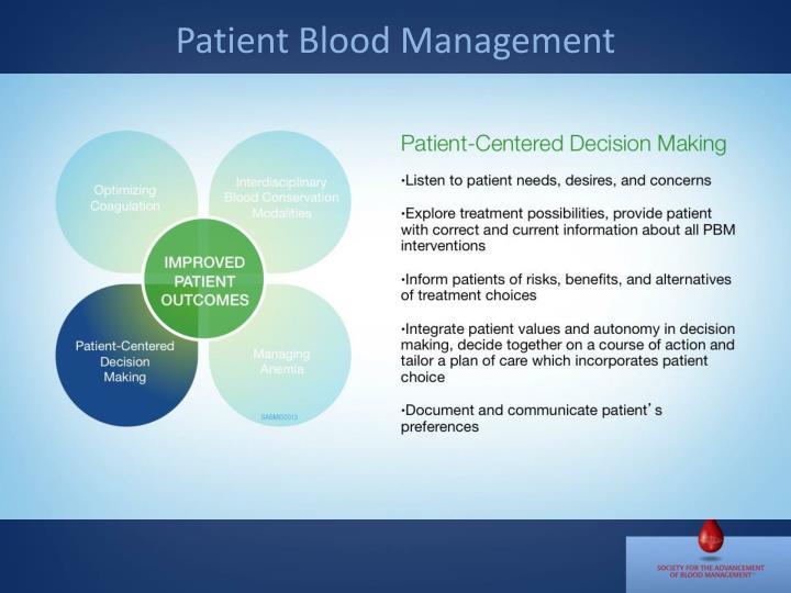 Patient Blood Management