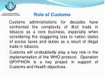 role of customs