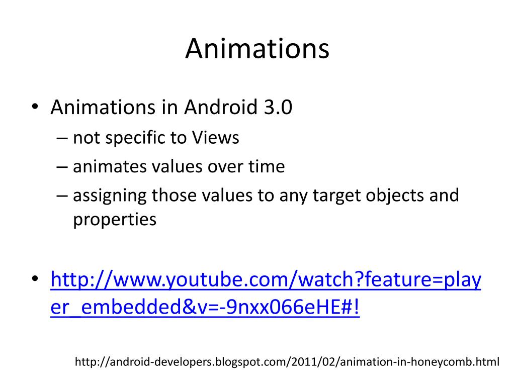 PPT - Graphics & Animation in Android PowerPoint Presentation - ID