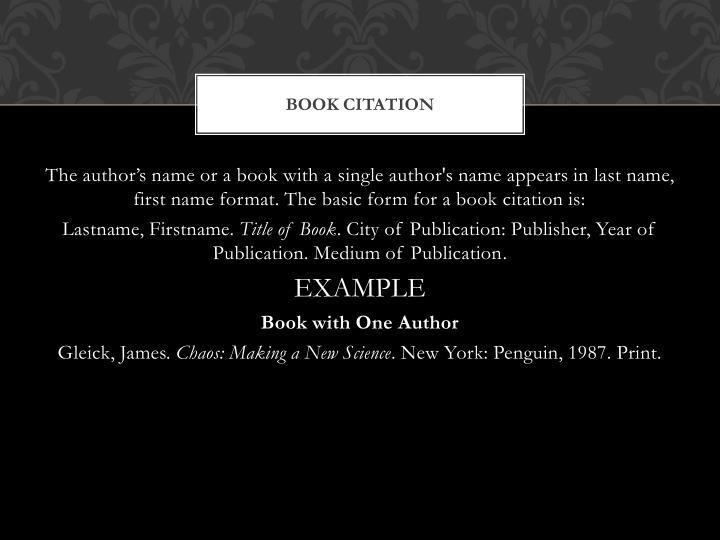Book Citation