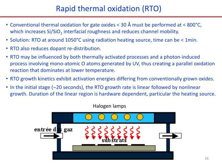Rapid thermal oxidation (RTO)