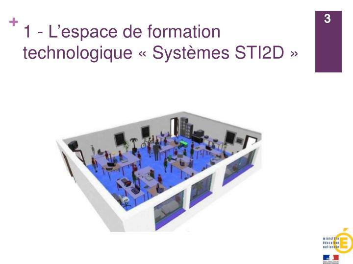 1 l espace de formation technologique syst mes sti2d