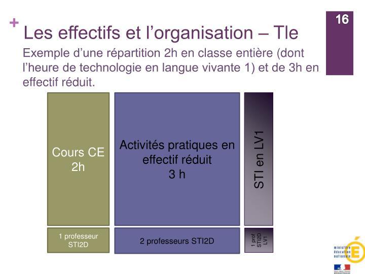 Les effectifs et l'organisation –