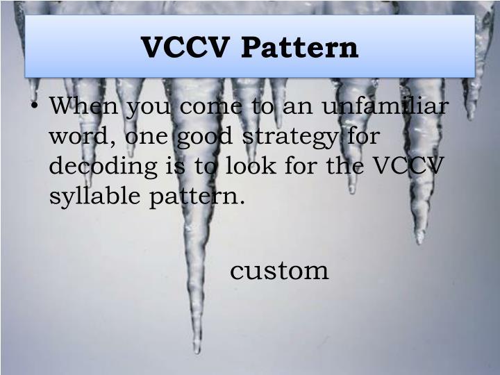 VCCV Pattern
