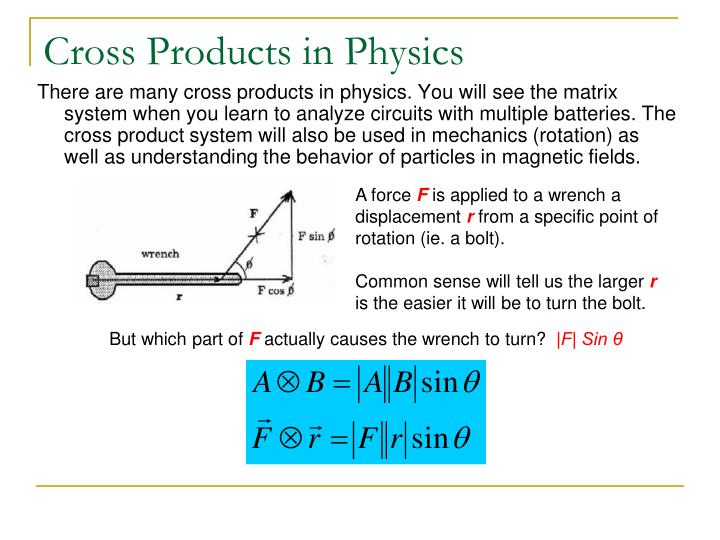Cross Products in Physics