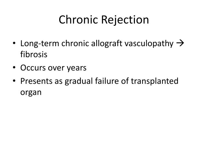Chronic Rejection