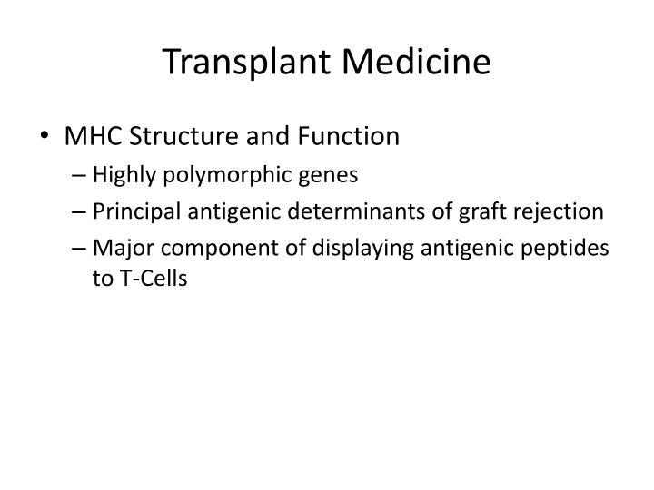 Transplant Medicine