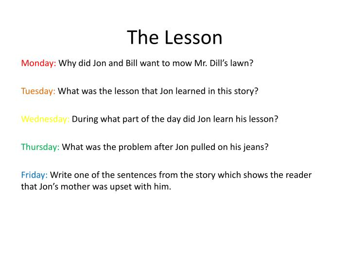 the lesson n.