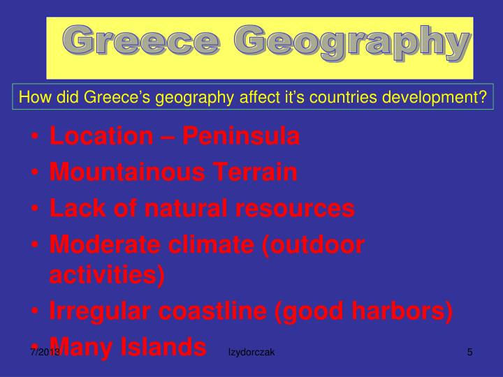 What Natural Resources Did Ancient Greece Lack