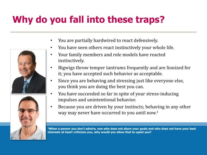 Why do you fall into these traps?