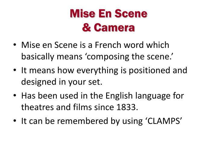 discuss how mise en scene and camera movement The bicycle thieves and italian neorealism posted on march 8, 2013 january 18, 2014 by james mooney from the early days of.