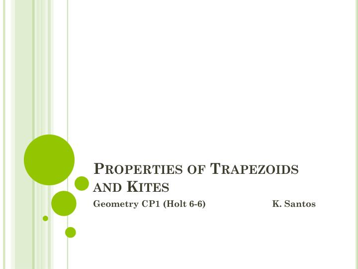 properties of trapezoids and kites n.