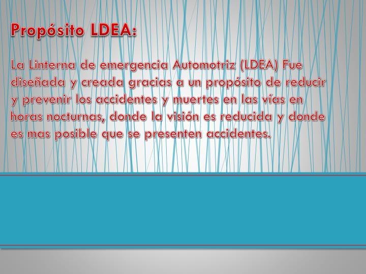 Propósito LDEA: