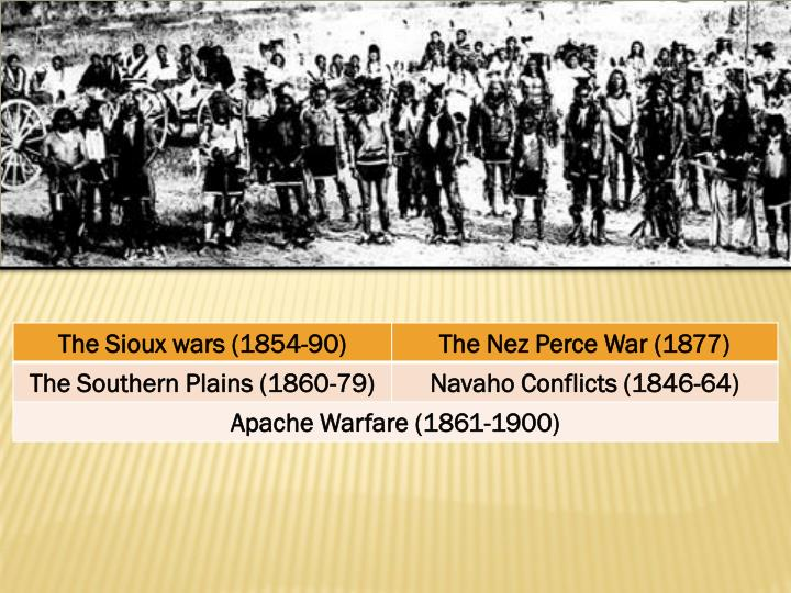 Indian wars the conquest of the far west