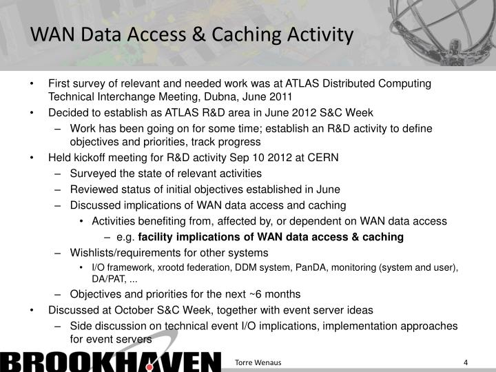 WAN Data Access & Caching Activity