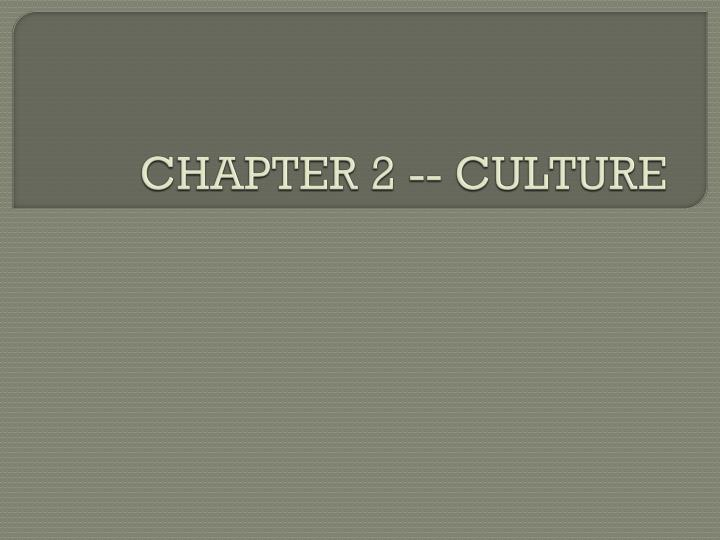 chapter 2 culture n.
