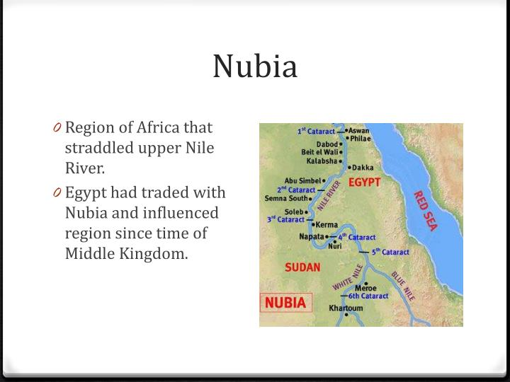 kingdoms egypt and nubia The stele sets out her kinship with the notables of nubia (in the north of the kingdom of which was born of the cultural intermixing of egypt and black africa.