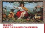 sonnet 5 from the sonnets to orpheus