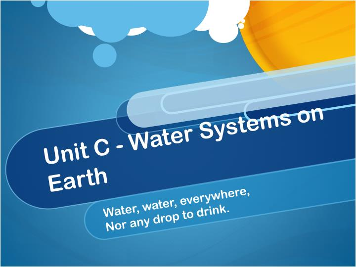 unit c water systems on earth n.