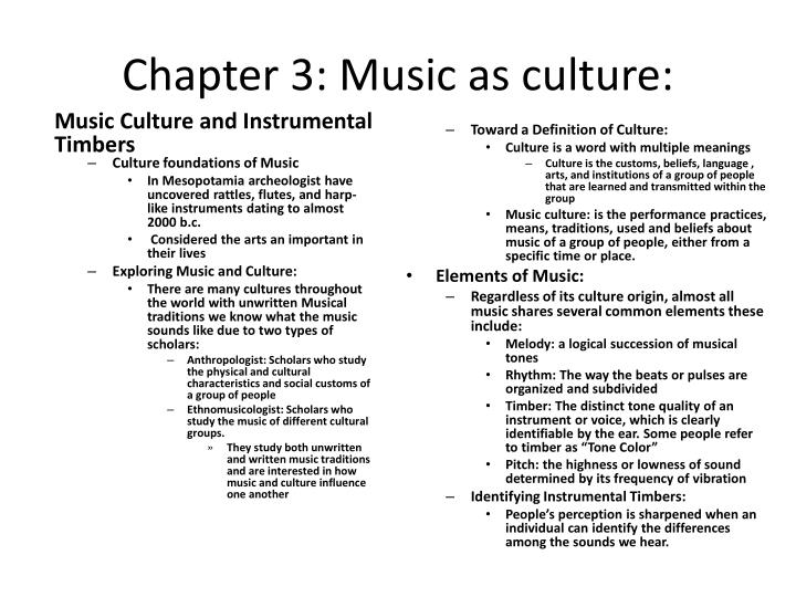 chapter 3 music as culture n.