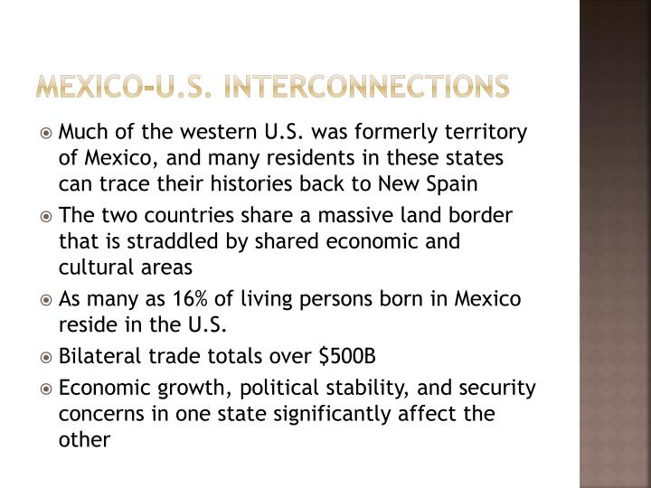Mexico-U.S. interconnections