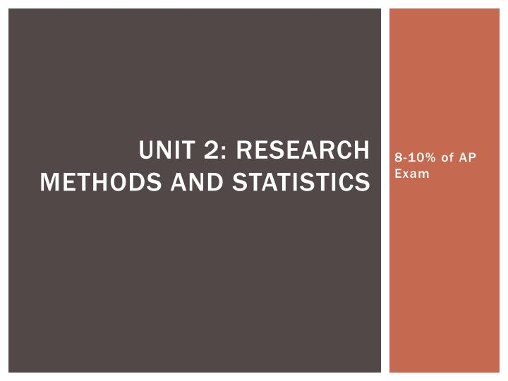 unit 2 research methods and statistics n.
