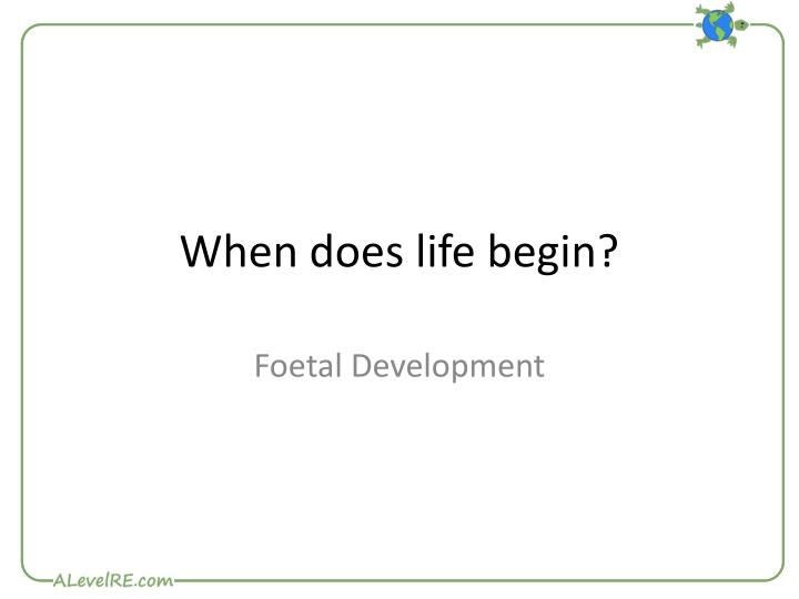 when does life begin Catholic answers staff apologist and speaker trent horn explains that life truly begins at conception, and that this truth is not proclaimed by the catholic church alone, but is a fact of biology.