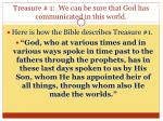 treasure 1 we can be sure that god has communicated in this world2