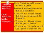 treasures hidden in the cross