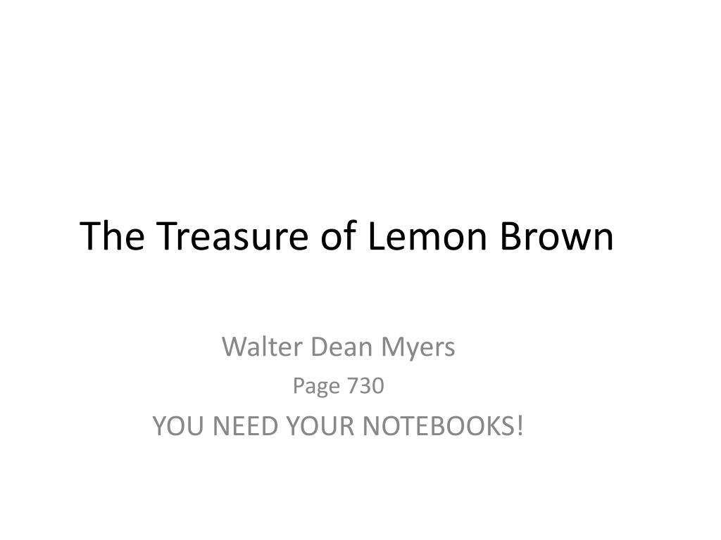what does greg learn from lemon brown