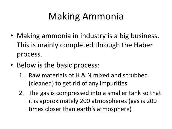 Making ammonia