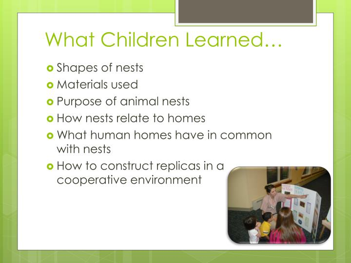 What Children Learned…