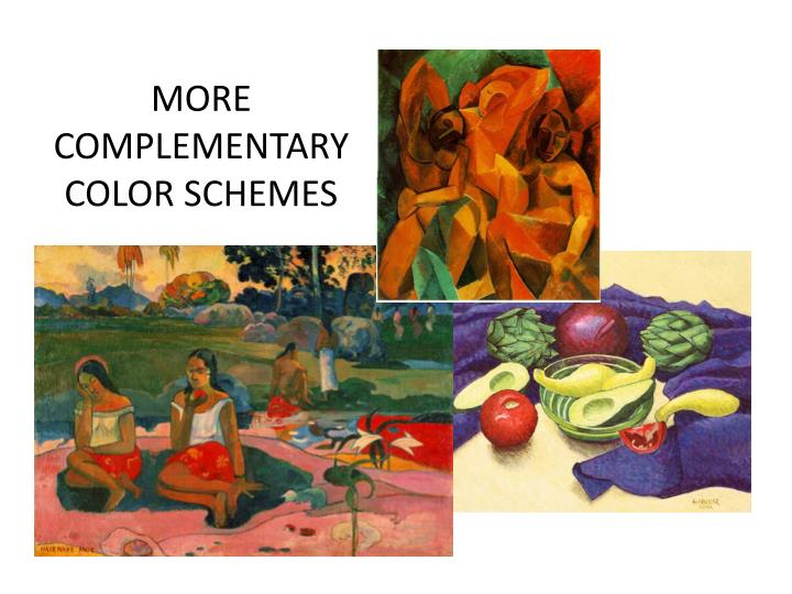 MORE COMPLEMENTARY COLOR SCHEMES