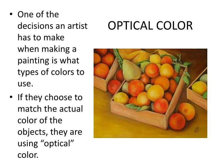 OPTICAL COLOR