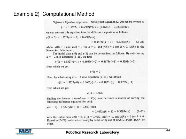Example 2)  Computational Method