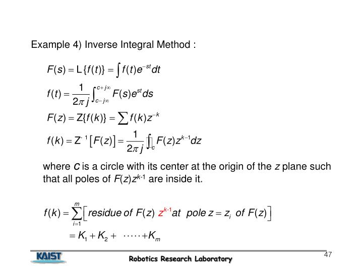 Example 4) Inverse Integral Method :