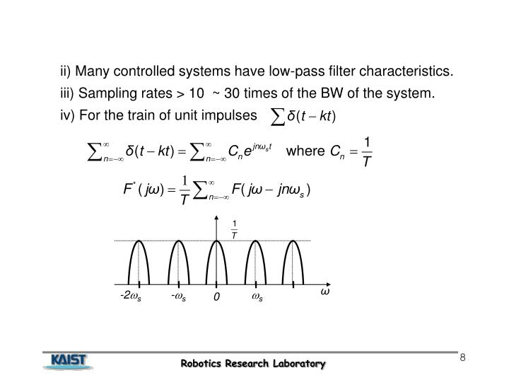 ii) Many controlled systems have low-pass filter characteristics.