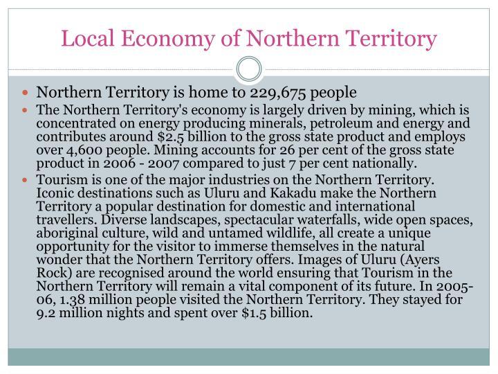 Local Economy of Northern Territory
