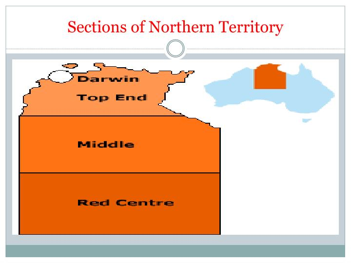 Sections of Northern Territory